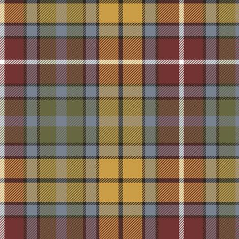 "Buchanan Ancient tartan, 6"" weathered colors fabric by weavingmajor on Spoonflower - custom fabric"