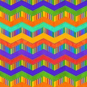 Rainbow Zigzag