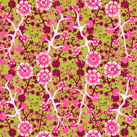 Mary Calico ~ Escapade and Usurper and Courtesan  fabric by peacoquettedesigns on Spoonflower - custom fabric