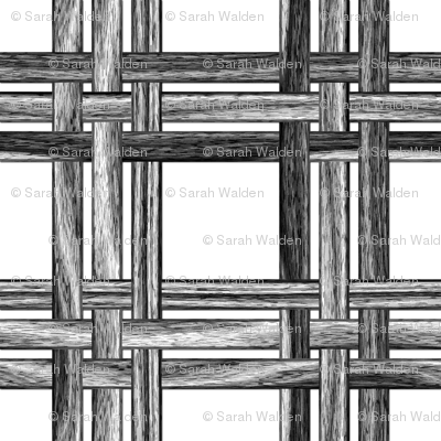 Wicker Weave ~ Black and White