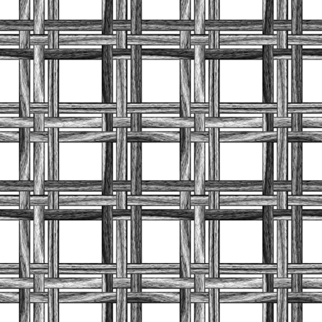 Wicker Weave ~ Black and White   fabric by peacoquettedesigns on Spoonflower - custom fabric