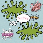 Poof LOL -LARGE  personalized pink AUDREY