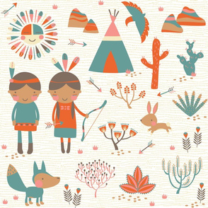 Southwestern // by petite_circus //  Baby Bedding cute kids nursery //
