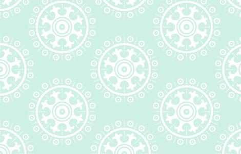 mod baby » suzani white on mint LG fabric by misstiina on Spoonflower - custom fabric