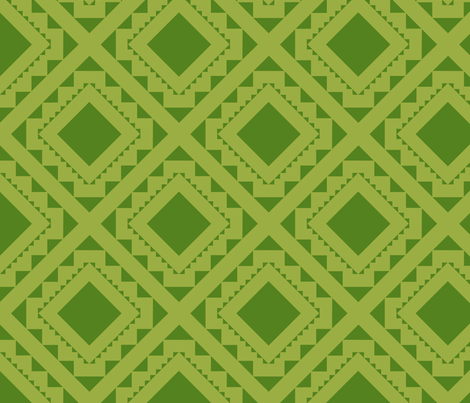 Southwest CactusTile_DiamondGreen_8_ fabric by robinpickens on Spoonflower - custom fabric