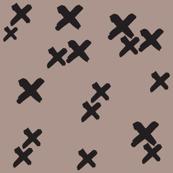Xs in Tan