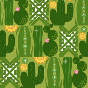 Southwest Cactus Garden_w_White_Lg
