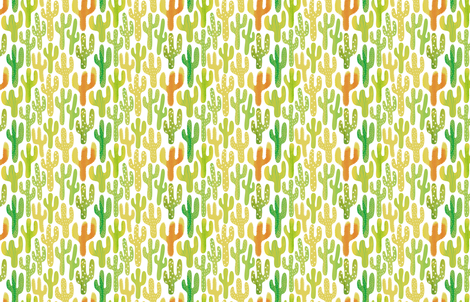 SW Cacti by Friztin fabric by friztin on Spoonflower - custom fabric