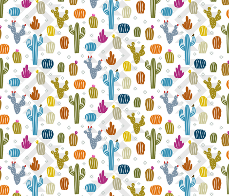 Cactus Cuteness fabric by lellobird on Spoonflower - custom fabric