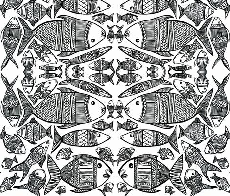 fantastical fish fabric by karalynshaw on Spoonflower - custom fabric