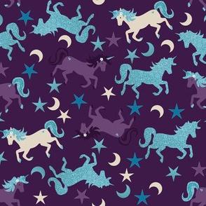 Glitter Unicorns, Stars and Moons