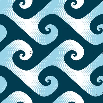jumbo stripey waves in sailing blues
