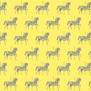 Carousel Horse in Miniature Mellow Yellow-ch