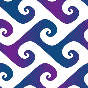 jumbo polkadot wave in purple and blue