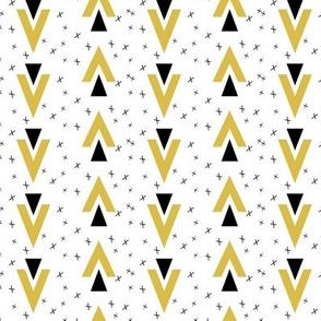 chevron triangle // mustard plus sign kids nursery baby