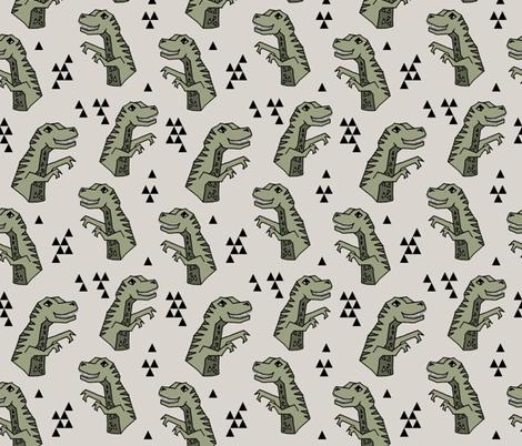 dinosaurs // dino dinosaur trex t-rex kids baby artichoke boys  fabric by andrea_lauren on Spoonflower - custom fabric
