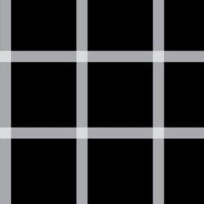 Retro Plaid Windowpane - Black