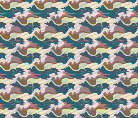 Flamingos In Water fabric by stacyarman on Spoonflower - custom fabric