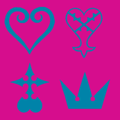 Kingdom Hearts Symbols -reverse-hot ounknand turquoisel