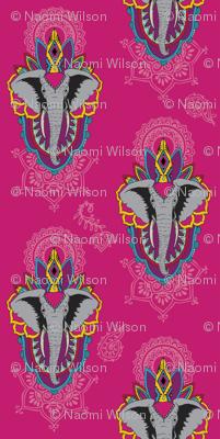 Elephants in Pink