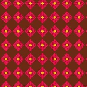 Squares Pink Brown