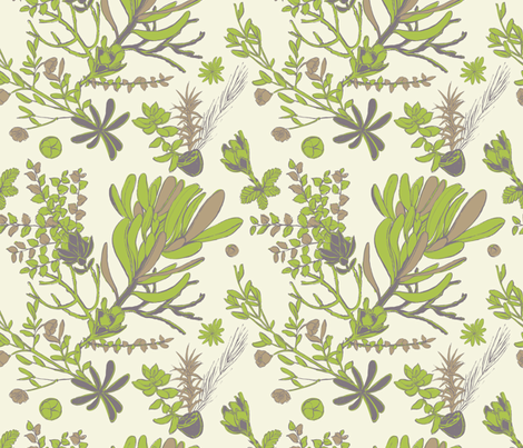 Cream Cradle Flora fabric by bermudezbahama on Spoonflower - custom fabric