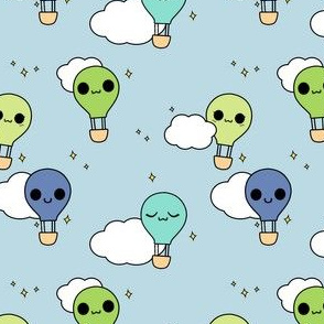 Kawaii Hot Air Balloons