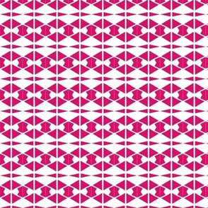 Diamonds Bowties Hot Pink