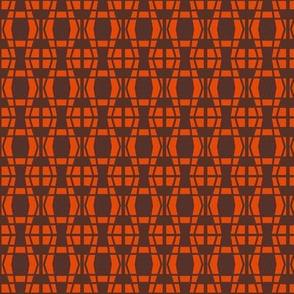 Serpentine Diamonds Orange Brown