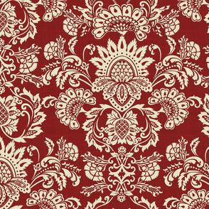 brocade vintage red