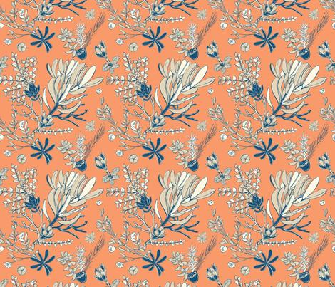 Orange Cradle Flora fabric by bermudezbahama on Spoonflower - custom fabric