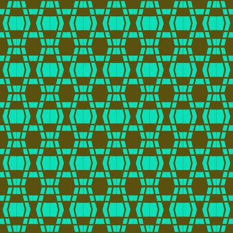 Serpentine Pavers Aqua Brown fabric by eve_catt_art on Spoonflower - custom fabric