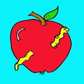 Cute Apple Worm