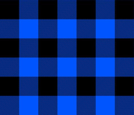 blue and black buffalo check fabric by weavingmajor on Spoonflower - custom fabric