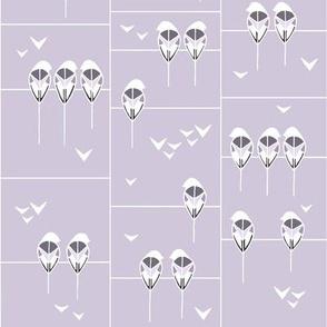 Sitting Birdies Lilac
