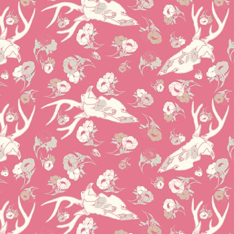 pinkdeerspoonflower fabric by b__woolf on Spoonflower - custom fabric