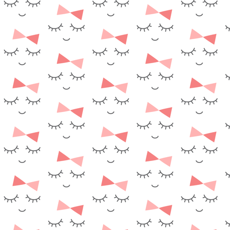 mod baby » miss sleepy eyes fabric by misstiina on Spoonflower - custom fabric