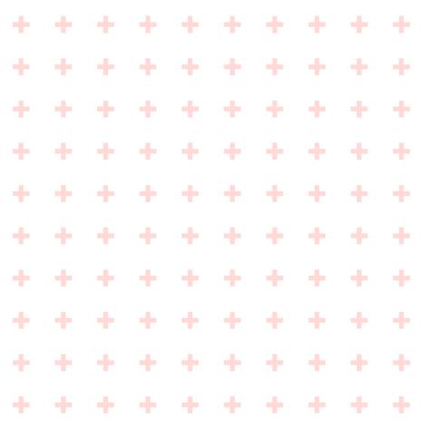 mod baby » tiny crosses coral light fabric by misstiina on Spoonflower - custom fabric