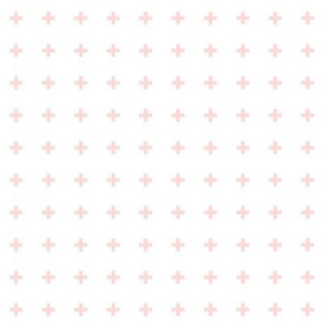 mod baby » tiny crosses coral light