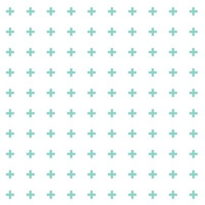 mod baby » tiny crosses mint