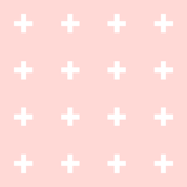 mod baby » tiny crosses on coral light