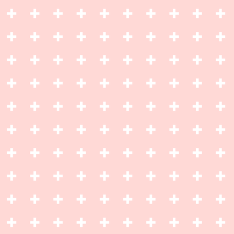 mod baby » tiny crosses on coral light fabric by misstiina on Spoonflower - custom fabric