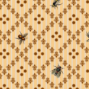 Vintage Busy Bees Honey Colours Large