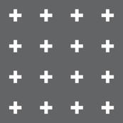 mod baby » tiny crosses on grey