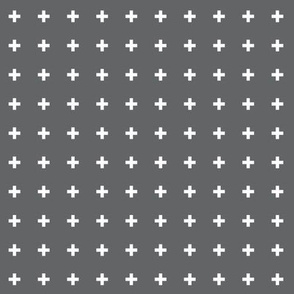 mod baby » tiny crosses on grey