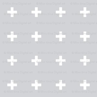 mod baby » tiny crosses on grey light