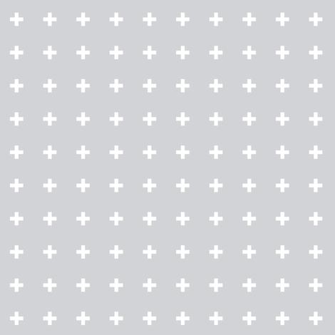 mod baby » tiny crosses on grey light fabric by misstiina on Spoonflower - custom fabric