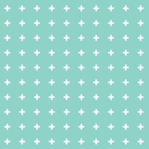 mod baby » tiny crosses on mint