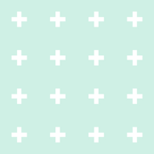 mod baby » tiny crosses on mint light