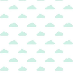mod baby » tiny clouds mint light